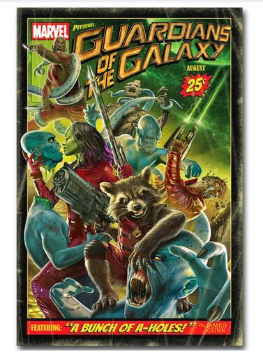 Guardian of The Galaxy  Movie Art Wall Decor Silk Print Poster