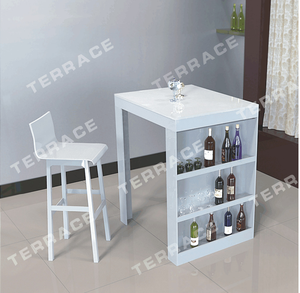 Attirant Acrylic Pub Mini Bar Table With Storage Wine Bottle Rack Perfect For Small  Living Room  In Dining Tables From Furniture On Aliexpress.com | Alibaba  Group