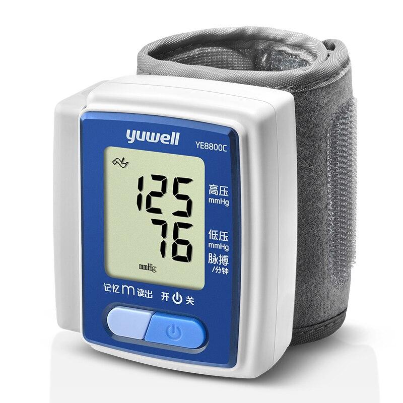 Yuwell Здоровье и гигиена Германии чип Автоматическая наручные цифровой Приборы для измерения артериального давления Мониторы тонометр счет...