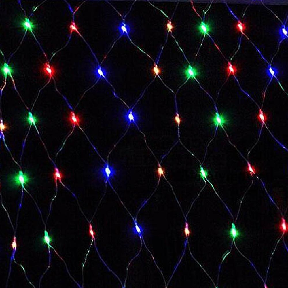 Mesh LED Lights 220V Holiday Wedding Party Outdoor String Lights Chain Decoration Garden Lamp Fairy Lights Net Garland slingers (6)