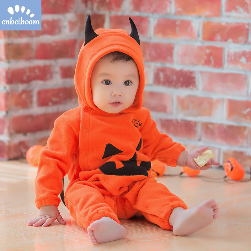 2018 Halloween costumes rompers for baby cosplay party clothes pumpkin Bat wings kids romper jumpsuit infant toddler clothing