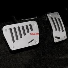 2Pcs Non Drilling Car Gas Brake Accelerator Pedal Plate Pad For Mitsubishi Outlander 2013 2014 2015