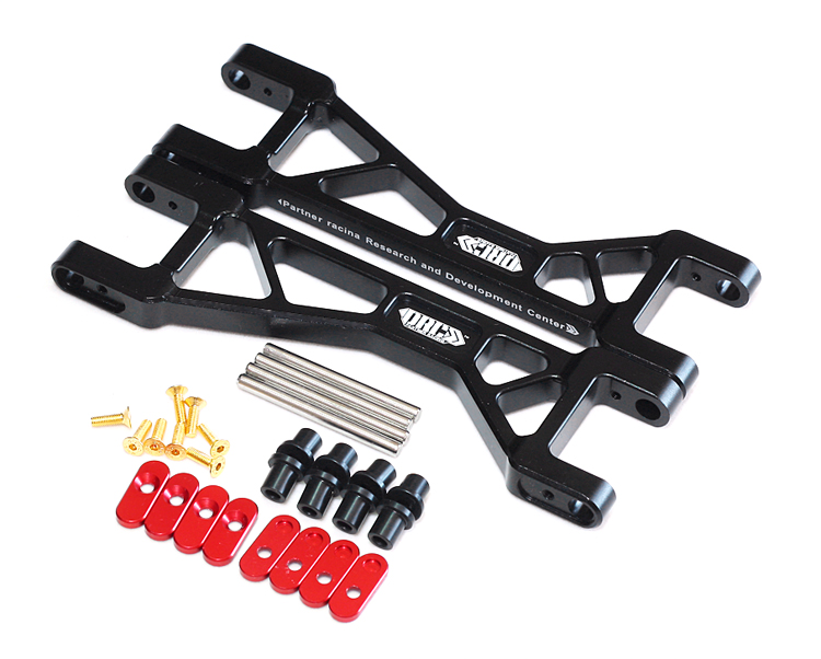 цена на PRC Racing Front/Rear Suspension Upper Arm (2) For Traxxas X-MAXX 1/5 Monster rc car Truck 6061-T6 NEW