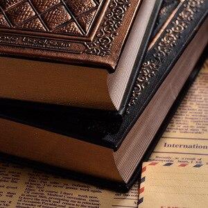 Image 3 - 416 páginas de espessura vintage em relevo xadrez retro notebooks alívio europeu antigo ouro capa dura notebook leiteria