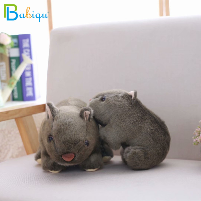все цены на 1pc 18cm Simulation Plush Wombat Guinea Pig Cavia Porcellus Toy Stuffed Wild Animal Doll Toys Baby Children Gift Home Shop Decor