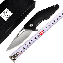 High Quality 60-61HRC D2 blade G10 handle Ball bearing folding knife utility tactical survival knives outdoor camping tools