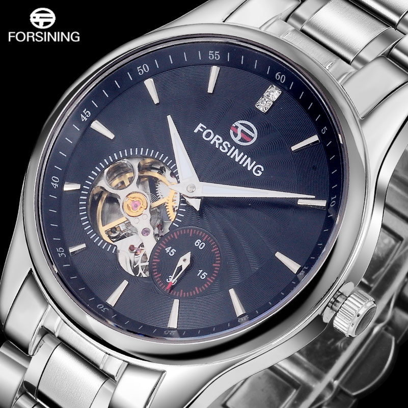 FORSINING Men's Luxury Mechanical Watch Men Tourbillon Automatic Wrist Watches Man Stainlees Steel Dress Clock Relogio Masculino forsining automatic tourbillon men watch roman numerals with diamonds mechanical watches relogio automatico masculino mens clock