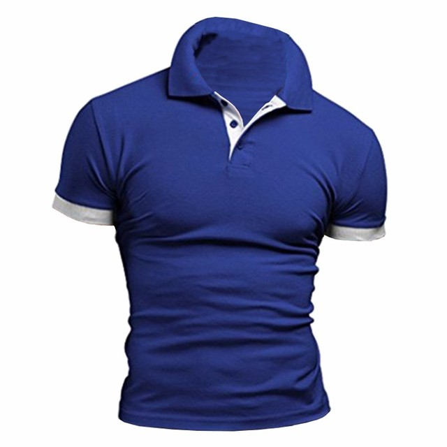 Plus Size L-2XL 2017 New Brand Mens Polo Shirt Coton Casual Slim Fit Polo Homme Short Sleeve Contrast Color Polo Men 8 Colors