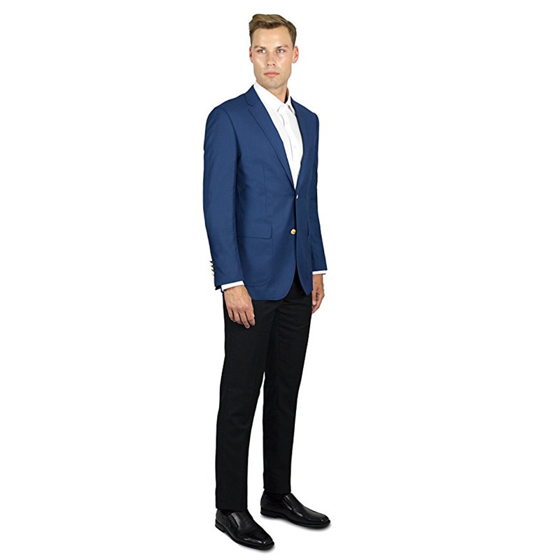 detailed look adab0 616f1 Us76 Uomini Blazer Dello Giacca Blu Button custom Due Fit ...