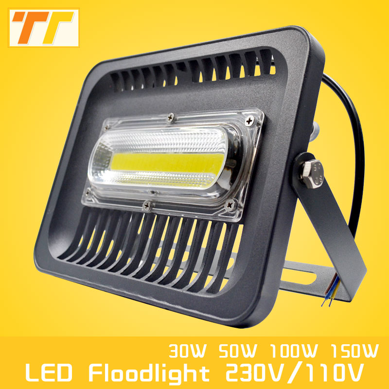 LED Flood Light 100W 50W 30W Floodlight IP65 Waterproof AC220V 230V 110V Spotlight Refletor LEDs Outdoor Lighting Garden Lamp ip65 waterproof floodlights 200w led flood light outdoor light refletor lamp 110v 220v garden lighting