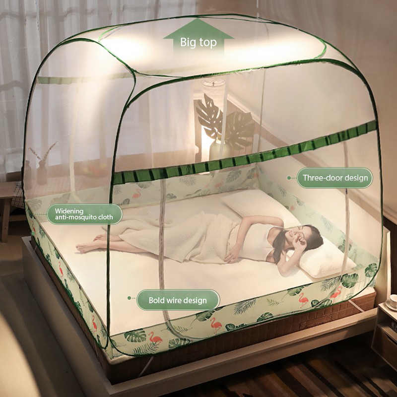 Mosquito Net For  double bed Free Installation Folding On The Lower Berth Student Travel Gift