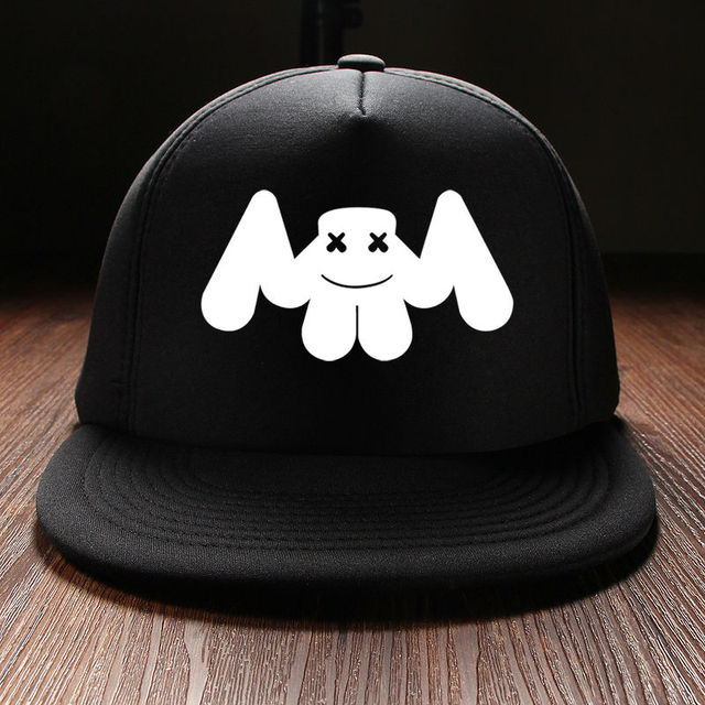 a6d68e55f396c New 2017 Fashion Punk Style Printed Marshmello Rock Band Mens Snapback  Baseball Caps Brand China Winter Hats For Boys Cotton