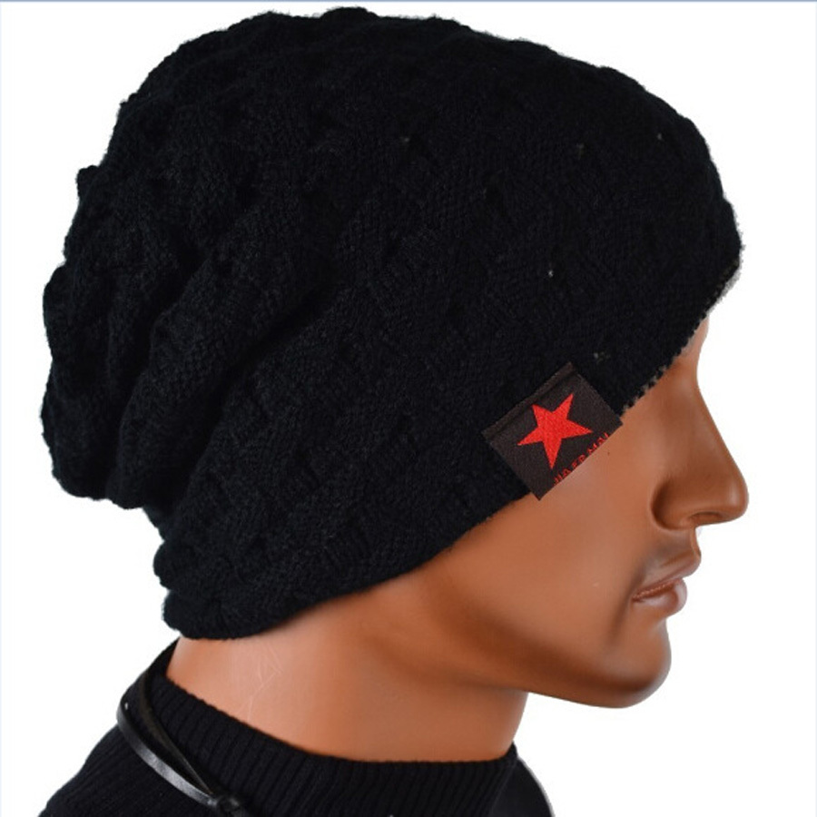 Free Shipping!Winter reversible beanie men hat womens hats,snow caps knit hat skull chunky baggy warm skullies,touca gorro hat 2016 fashin reversible skullies