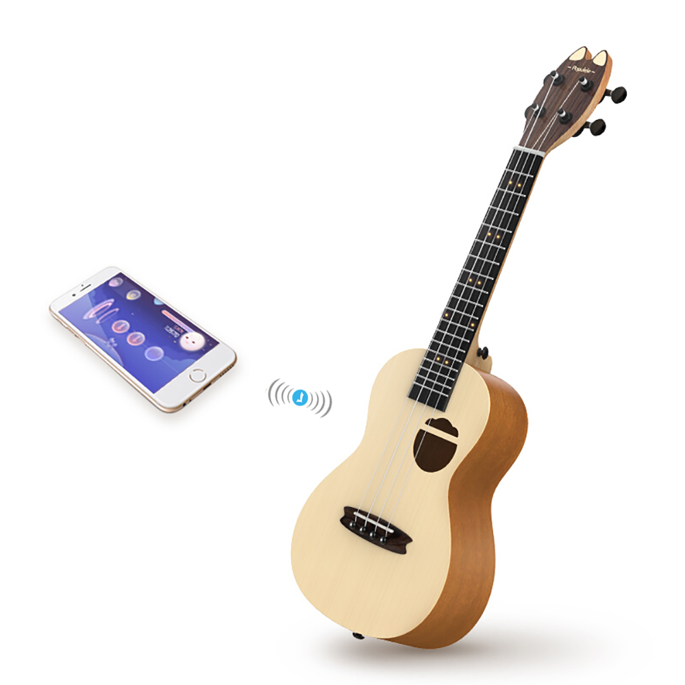 Populele Q1 Acoustic Electric Smart Guitar Ukulele Concert Soprano 23 Inch 4 String Guitar Ukulele Musical Instruments Guitarra