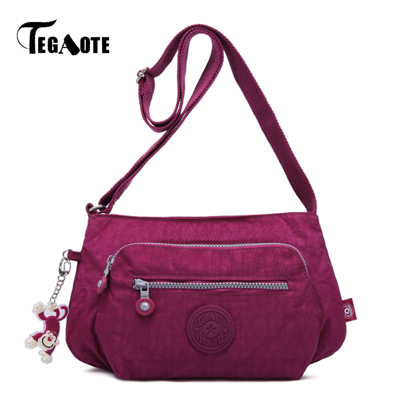 TEGAOTE Shoulder-Bags Female Handbag Beach-Clutch Femme Women Bolsas Nylon Feminina Hobos