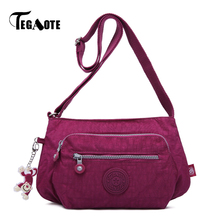 TEGAOTE Crossbody Shoulder Bags For Women Hobos Messenger Bag Female Handbag Beach Clutch Nylon Casual Bolsas Feminina sac femme(China)
