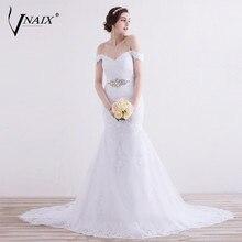 Vnaix W1299 Sexy Lace Mermaid Wedding Dresses Vestido De Novia Customized Cheap Brides Dress Long Lace Bridal Gown