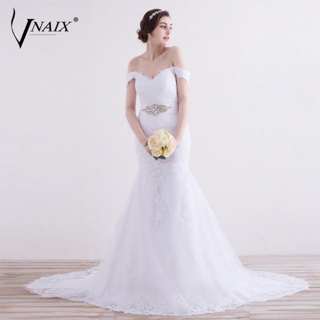 Vnaix w1299 sexy Encaje sirena Vestidos de novia vestido de novia ...