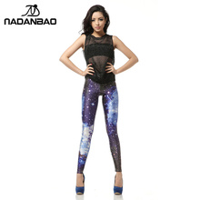 Legging 3D Digital Blue Galaxy Sexy Leggins Fashion Slim Leggins Printed Women Leggings  Women Pants