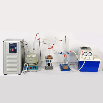 Lab Scale Small Short Path Distillation Equipment 5L Short Path Distillation Contains Cryogenic And Vacuum Pumps usa hot scale small short path distillation equipment 5l short path distillation with stirring heating mantle include cold trap
