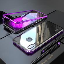 Metal Magnetic Case For Huawei P20 Lite Phone Transparent Glass Back Cover Built in Magnet sFor Huawei P20Lite Case P 20 Lite