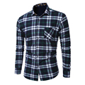 Fleece inside Thicken men's Casual shirts Winter keep warm Plaid shirt L-5XL Plus size Men camisa masculina brand clothing MQ475