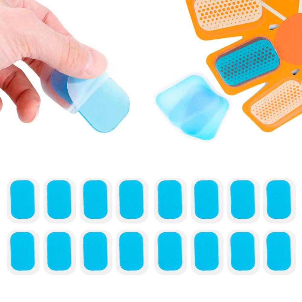 16 PCS Muscle Abdominal Exerciser Toning Belt Machine Sticker Smart Stimulator Training Gear Hydrogel Abdominal Gel Stickers