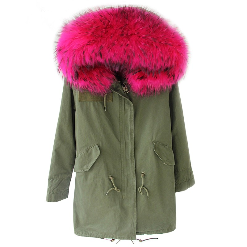 2016-Winter-New-Women-Army-Green-Parka-Jacket-Coats-Thick-Real-Raccoon-Fur-Collar-Hooded-Fur_