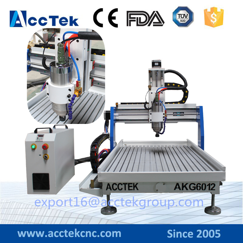 AccTek Three-axis Threads Screw CNC Router Engraver Engraving Milling Drilling Cutting Machine 600*1200 AKG6012