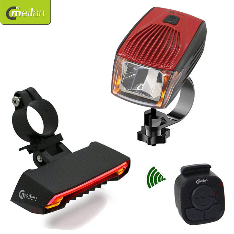Meilan x1 Smart Headlights Bike Light Set Meilan x5 lantern Bicycle Laser Running Lights Turn Signal Safety Wireless Tail Lamp
