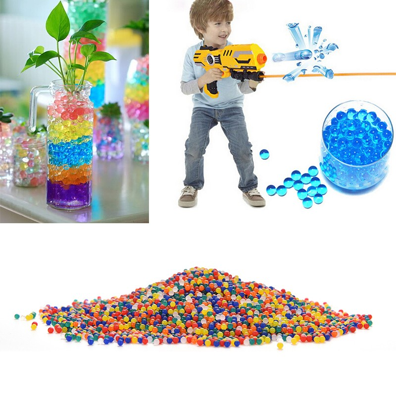 5bagHot200pcs/bag growing crystal water balls soft crystal water paintball gun bulletsoil water beads air water gun toys