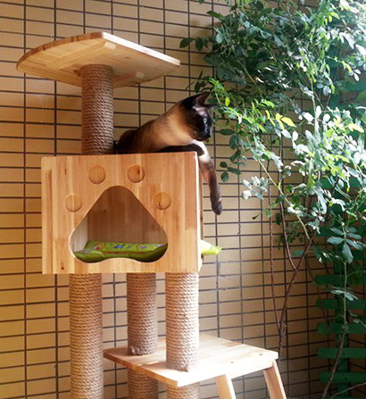 Goods For Pets Cat Wood Furniture & Scratchers Climbing
