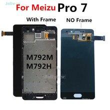 สำหรับMeizu Pro 7 จอLCDเปลี่ยนDigitizerสำหรับMeizu Pro 7 Pro7 LCDกรอบM792M m792H