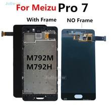 Pantalla LCD para Meizu Pro 7, repuesto de Digitalizador de pantalla táctil para Meizu Pro 7 Pro7 LCD con marco M792M M792H