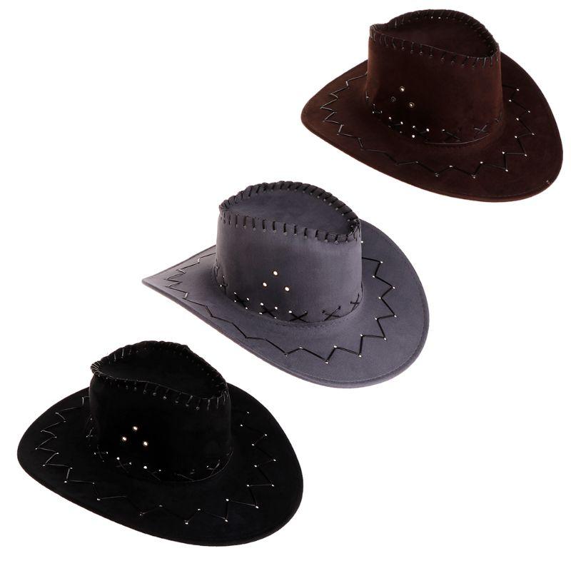Nueva llegada de moda sombrero de vaquero para hombres occidental fiesta de  disfraces de viaje casuales sombreros de vaquero d0716e3badb