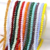 300PCS/LOT Crystal Beads 3x4mm Rondelle Glass Beads Charmly Clear Created DIY Jewelry Faceted Glass Crystal Beads Spacer