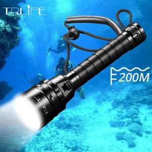 Image 1 - IP68 najwyższa latarka do nurkowania latarka 5 * T6 L2 latarka nurkowa 200M podwodna wodoodporna taktyczna profesjonalna lampa nurkowa latarnia