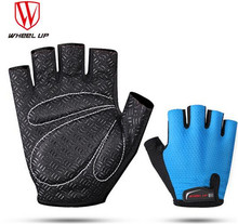 WHEEL UP Men MTB Mountain Bicycle Cycling Gloves Half Finger Sumer Breathable Bike Sponge Pad Professional