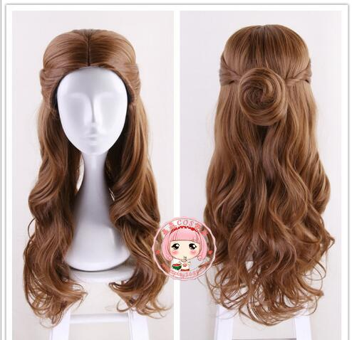 Movie Beauty and The Beast Princess Belle Hair Emma Waston Long Wavy Headwear Cosplay /Role Play Costume Accessories