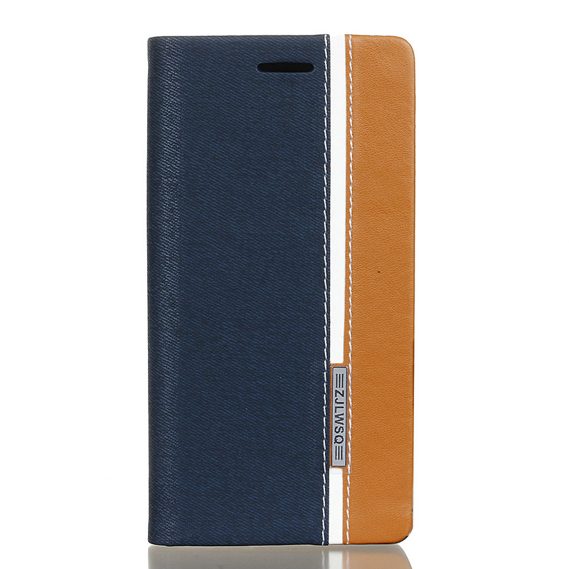 Leather Card Slot Stand Assorted Color Linen PU Cover Smartphone Case For Sony Xperia X XA Premium F5122 F5121 F3111 F3115