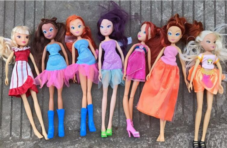 Free Shipping 2018 20cm Doll New Winx Dolls For Girls Gift Doll Accessories