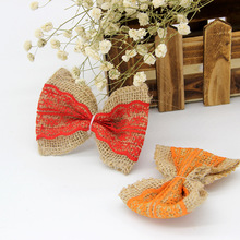 1pcs Cotton Linen Flowers Tie Bow Knot for Women Hair Handmade DIY Lace Bow New Clothing Accessories Wedding Birthday Decoration