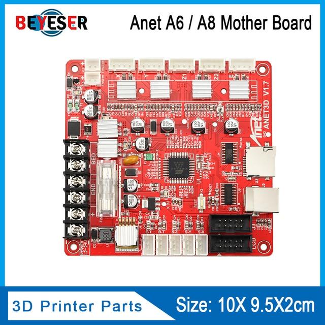 1 pc anet v1.7 3d 프린터 제어 보드 anet a8 & a6 & a3 & a2 3d 프린터 reprap i3 3d 프린터 mather 보드 4 색