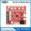 1 unidad Anet V1.7 3D tarjeta de Control de impresora para Anet A8 y A6 y A3 y A2 3D impresora Reprap i3 3D tablero de impresora Mather 4 colores