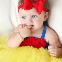 0-4Y Baby Tutu Kleid Kleinkind Infant Prinzessin Cosplay Schneewittchen Kostüm 1 Geburtstag Kleid Hochzeit Baby Kleid Vestidos