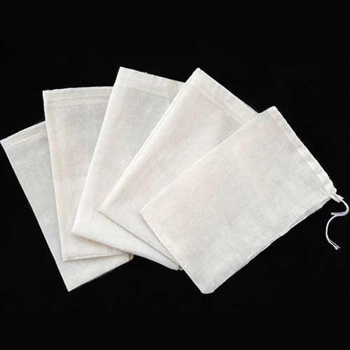 10/50/100 шт хлопчатобумажный комплект одежды из муслина шнурок многоразовые сумки для мыла травяной чай