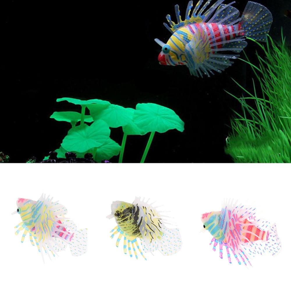 Fish tank glass for sale - 1pcs Glow In The Dark Luminous Pebbles Artificial Colorful Fish Tank Aquarium Decoration Acrylic Garden Supplies