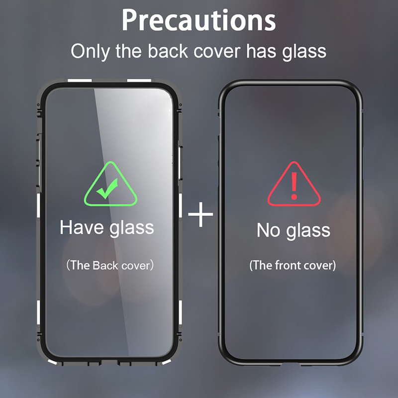 cheap for discount 7c70d 4b8eb Magnetic Flip Case For Huawei Mate 20 Lite Case Transparent Glass Back  Cover Metal Frame Bupmer Protective Coque For Mate 20 Pro