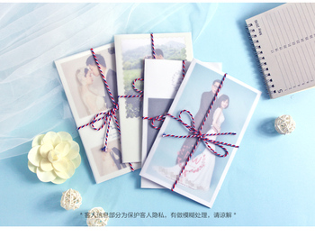 High Quality Inviation Card 11*18cm With Semitransparent Envelope Customer Photo Invitation For Wedding Anniversary Baby Shower