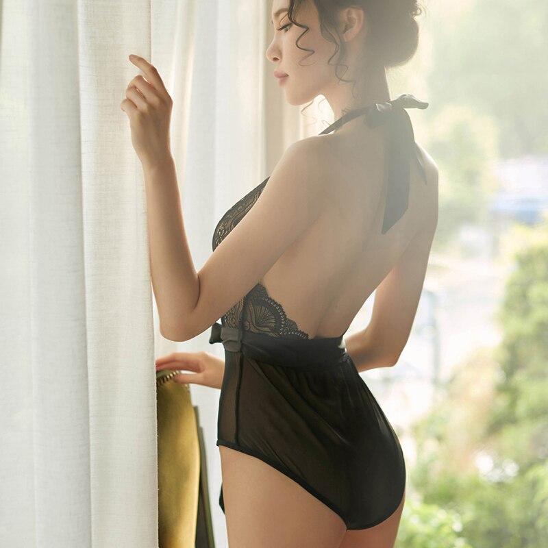 New Sexy Lace Women Pajamas Lingerie Nightgown Backless Nightwear Women Underwear Charming Nightdress Transparent Sleepwear